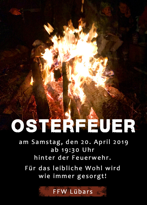 Osterfeuer am 20. April 2019 in Lübars